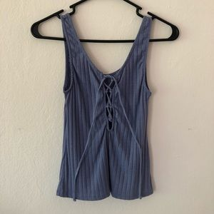 Urban Outfitters Project Social T Blue Deep V Tank